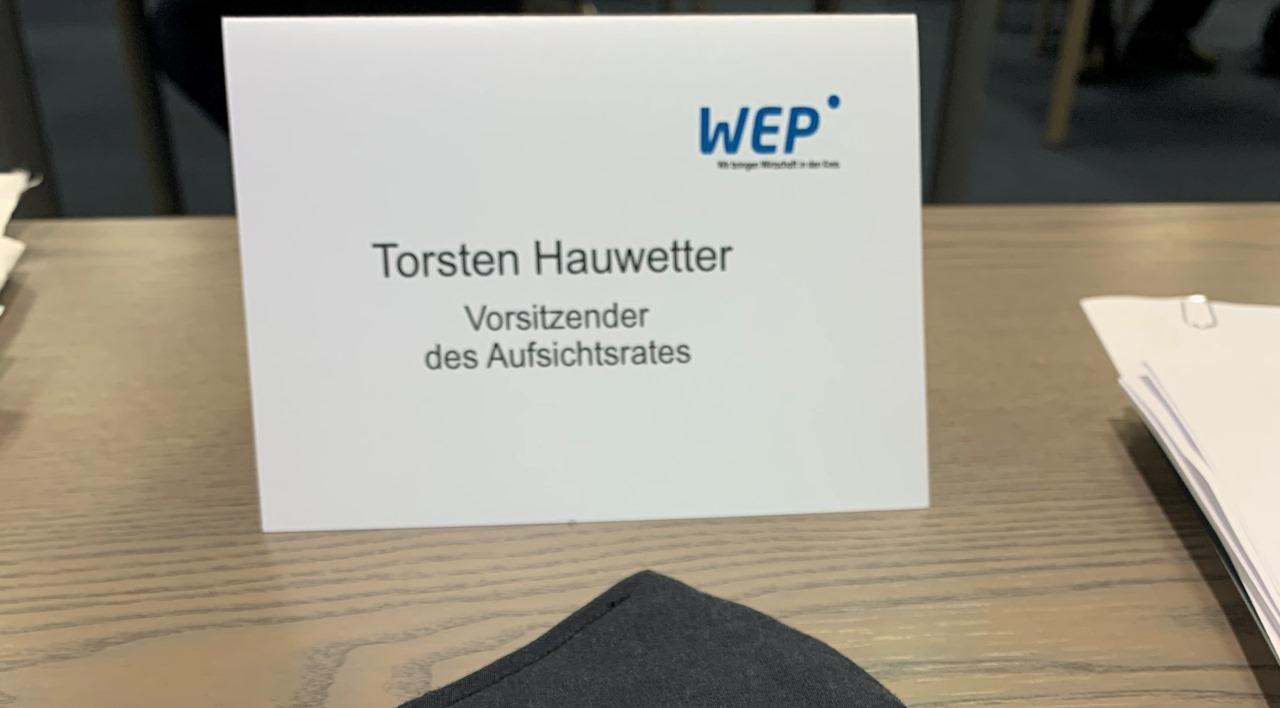 Aufsichtsratssitzung der WEP